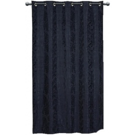 Black Fleur Eyelet Curtain per drop