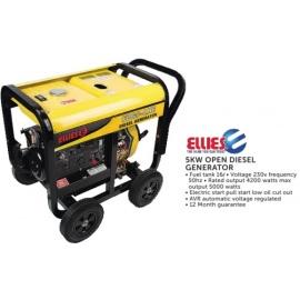 Ellies 5KW  Open Diesel Generator