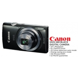 Canon IXUS 160 BLACK DIGITAL CAMERA