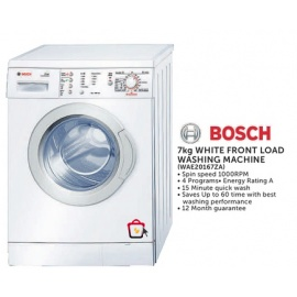 Bosch White front load washing machine 7kg