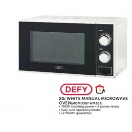 Defy White ManualMicrowave Oven