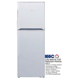 KIC 170l White Top Freezer Fridge (518 1)