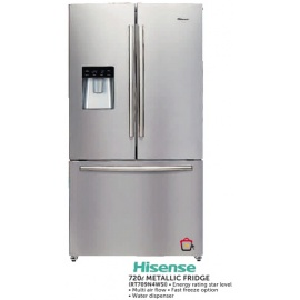 Hisense Metallic fridge 720l (RT709N4WSI)