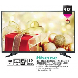 "Hisense 40"" Full HD Digital LED TV"