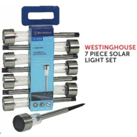 WESTINGHOUSE 7 PIECE SOLAR LIGHT SET