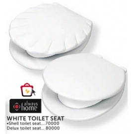 White Toilet Seat Delux Shell