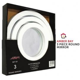 Amber Bay 3 piece round Mirror