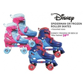 Disney Spiderman or Frozen rollers Skates