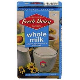 Fresh Dairy Whole Milk 250ml