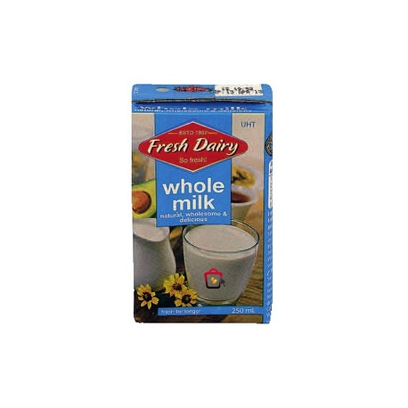 Fresh Dairy Whole Milk 250ml
