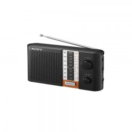 SONY ICF F12S C PORTABLE RADIO WITH SHOR Black