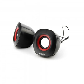 Clikon Computer Speaker Oval Shape with Red & Bl CK 2904