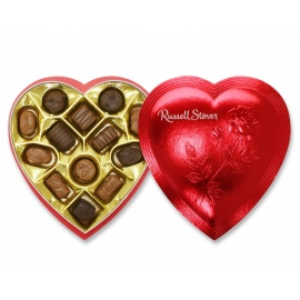 Russell Stover Valentine's Day Red Foil Heart, 7 oz.