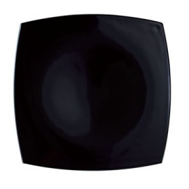 QUADRATO BLACK DINNER PLATE