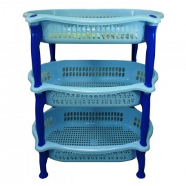 Oval 3 Tier Durable Plastic