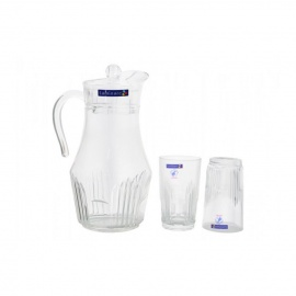 Set of 7 Luminarc Orient 1 Jug & 6 Glasses