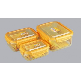 3 Piece Rectangular Food Container Set