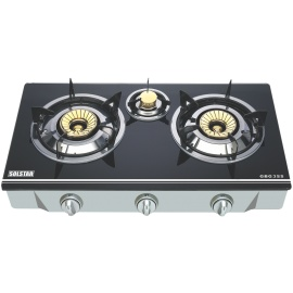 Solstar 2 Gas Burner Table Top Black/Silver
