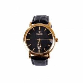 SlimStone Leather Analog  Watch