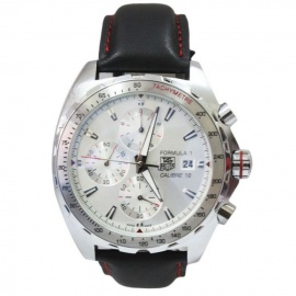 Formula 1 Calibre 16 Silver Watches with Chromes  Black