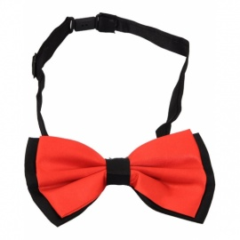 Black Red Bow Tie