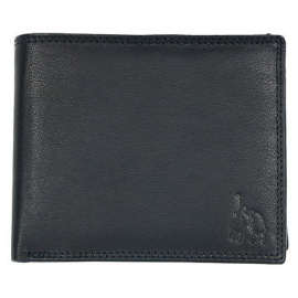 Polo genuine leather black Men's Wallets