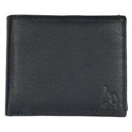 Polo genuine leather black Men's Wallets