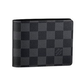 Louis Vuitton Checkered Men's Wallet  Black