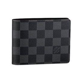 Louis Vuitton Checkered Men's Wallet  Black