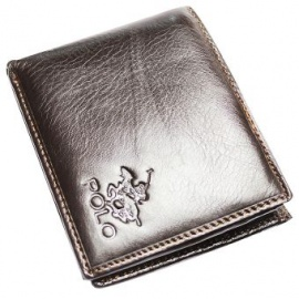 Polo Leather Wallet One Size Brown