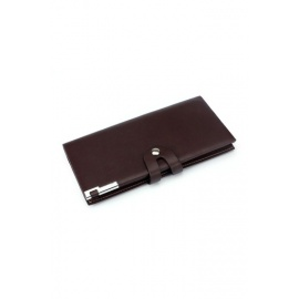 Men's Long Wallet Business Casual Leather Brown