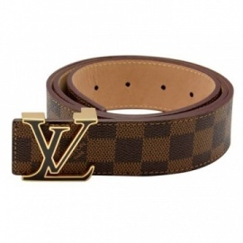 Brown Louis Vuitton men's belts.