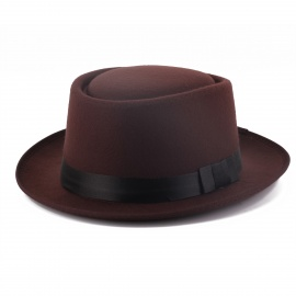 Men's Round Hat Brown