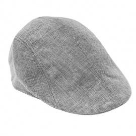 Men's Classic Linen Beret Hat Cap