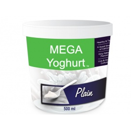 mega plain yogurt 500ml