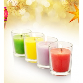X-MAS CANDLES IN GLASS -AFRICAN