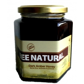 Bee Natural Honey Dark Amber Glass 500 GRAMS Bee Natural Honey Dark