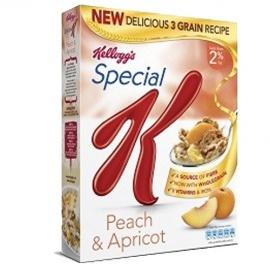 KELLOGS S/K PEACH & APRICOT 320G