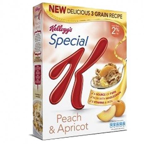KELLOGS S/K PEACH&APRICOT 320G